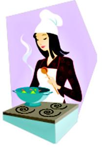 kuchařka dělá těsto na frgály
